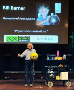 All smiles for Bill Berner's (Lab Director for the Department of Physics and Astronomy) buoyant presentation.