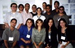 The 14 students participating in CIRE research. Taken during the NSF site visit to Humacao, PR, December, 1999. (photo credit - U. Strom)