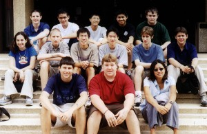PSSA Students 2000 front row, Jason Kressel, Scott Heinz, Amy Drakeman, middle row, Joanne Cohen, Nathan Venskytis, Andy Wen, Mike Lin, Will Andress, Eric Baker, back row, Mike Sheehan, Matt Ligon, Kent Lau, Chris Low, and Sean Bard.