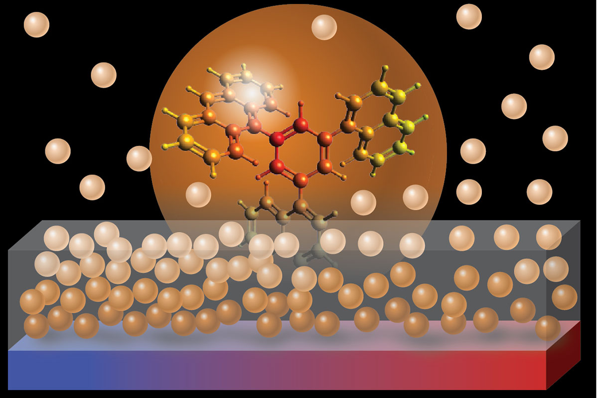 Collaboration demonstrates a new amorphous packing of organic molecules
