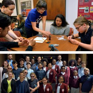 Sophia Siefert  working with students from Girard College and Pennsylvania School for the Deaf