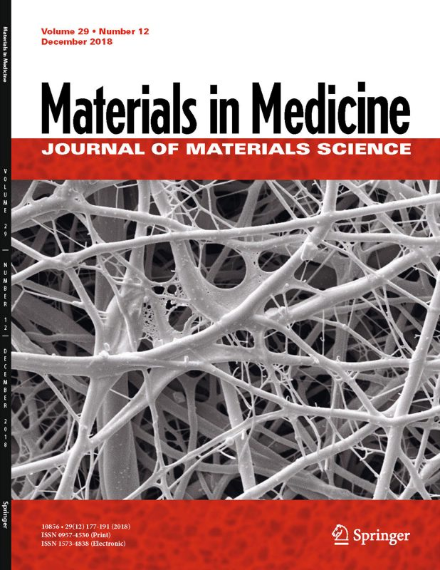 Materials in Medicine cover 2018, Janmey