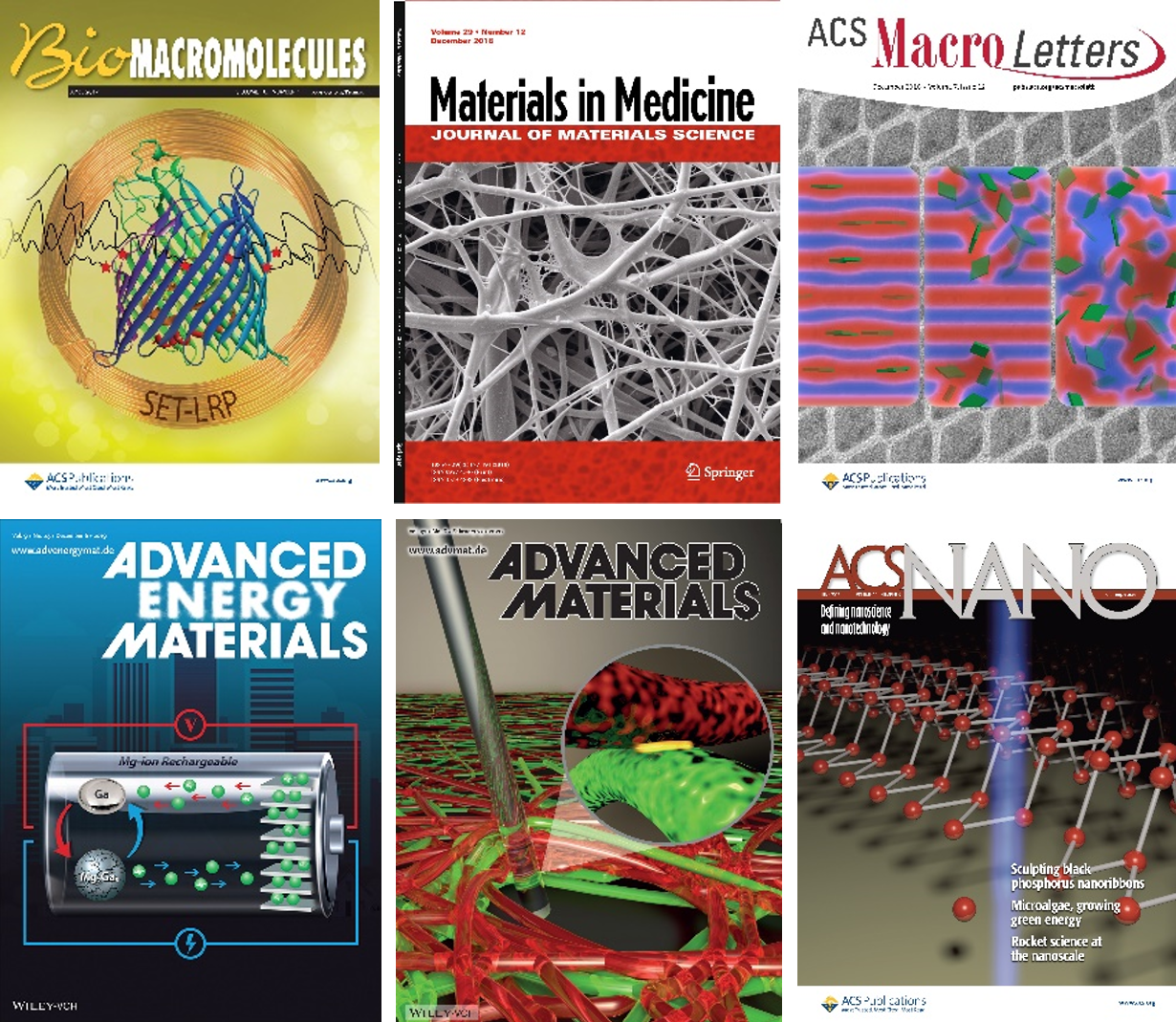 Recent Journal Covers Highlight MRSEC Activity
