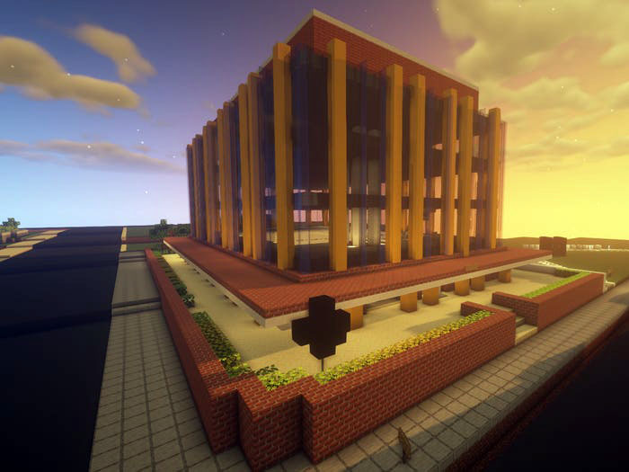 The LRSM Building Recreated in 'Minecraft'